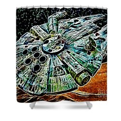 Millenium Falcon Shower Curtain by Paul Ward