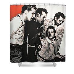 Million Dollar Quartet Shower Curtain by Luis Ludzska