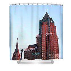 Milwaukee Sundown Shower Curtain by Ann Horn