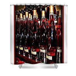 Miner Pink Sparkling Wine Shower Curtain by Joan  Minchak