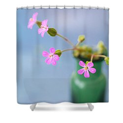Miniature Posy Shower Curtain by Jan Bickerton