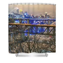 Minneapolis Bridges Shower Curtain by Craig Voth