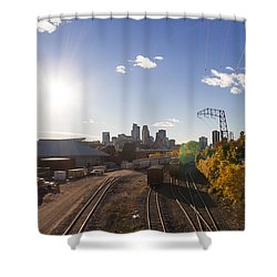 Minneapolis In The Fall Shower Curtain by Zach Sumners