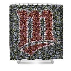 Minnesota Twins Baseball Mosaic Shower Curtain by Paul Van Scott