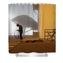 Minor Setback Shower Curtain by Daniel Furon