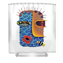 Missing The Sea Shower Curtain by Opas Chotiphantawanon