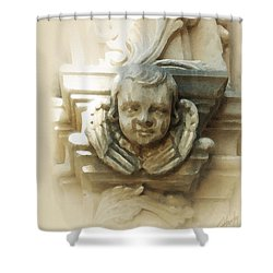 Mission San Jose Angel Shower Curtain by Cliff Hawley