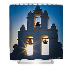 Mission Sunset Shower Curtain by Inge Johnsson