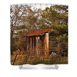 Mississippi Corn Crib Shower Curtain by Tamyra Ayles