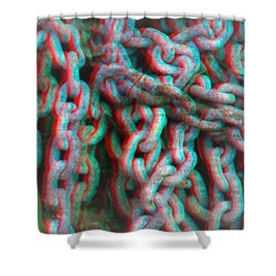 Mistified Links - Use Red-cyan 3d Glasses Shower Curtain by Brian Wallace