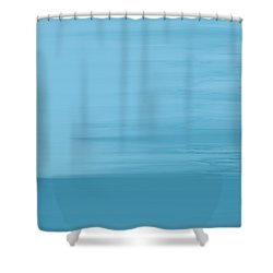 Shower Curtain featuring the painting Misty Sea by Frank Tschakert