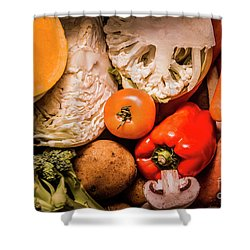 Mixed Vegetable Produce Pack Shower Curtain by Jorgo Photography - Wall Art Gallery