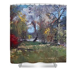 Mixed Weather In A Fall Afternoon Shower Curtain by Ylli Haruni