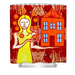 Modern Woman Shower Curtain by Patrick J Murphy