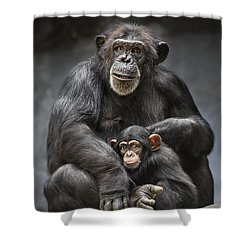 Mom And Baby Shower Curtain by Jamie Pham