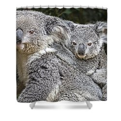 Mommy Hugs Shower Curtain by Jamie Pham