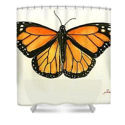 Monarch Butterfly Shower Curtain by Juan Bosco