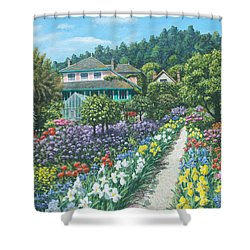 Monet's Garden Giverny Shower Curtain by Richard Harpum