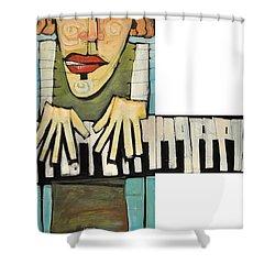Monsieur Keys Shower Curtain by Tim Nyberg