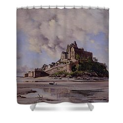 Mont Saint Michel Shower Curtain by Emmanuel Lansyer