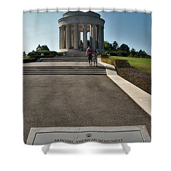 Shower Curtain featuring the photograph Montsec American Monument by Travel Pics