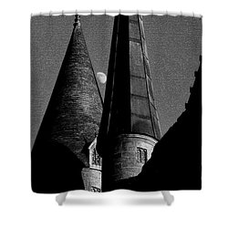 Moon Over Hogwarts Shower Curtain by David Lee Thompson