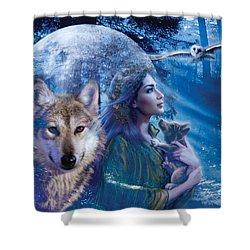 Moonlit Brethren Variant 1 Shower Curtain by Andrew Farley