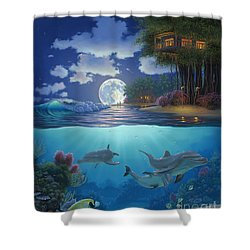 Moonlit Sanctuary Shower Curtain by Al Hogue