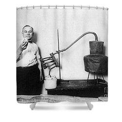 Moonshine Distillery, 1920s Shower Curtain by Granger