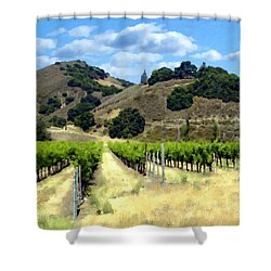 Morning At Mosby Vineyards Shower Curtain by Kurt Van Wagner