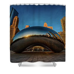 Morning Bean Shower Curtain by Sebastian Musial