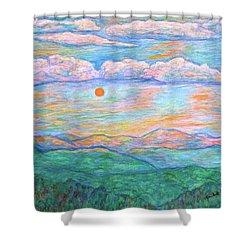 Morning Color Dance Shower Curtain by Kendall Kessler