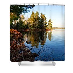 Morning On Chad Lake 4 Shower Curtain by Larry Ricker