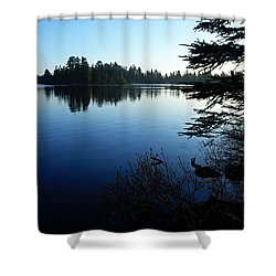 Morning On Chad Lake Shower Curtain by Larry Ricker