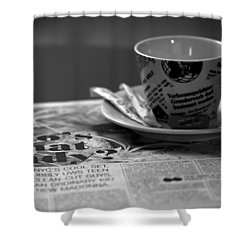 Morning Read Shower Curtain by Evelina Kremsdorf
