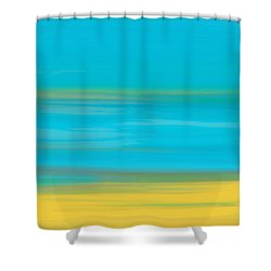 Shower Curtain featuring the painting Morning Sea by Frank Tschakert