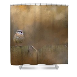 Morning Song Shower Curtain by Jai Johnson