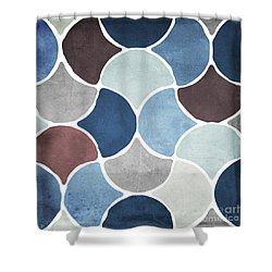 Moroccan Blues  Shower Curtain by Mindy Sommers