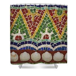 Mosaic Fountain Pattern Detail 4 Shower Curtain by Teresa Mucha