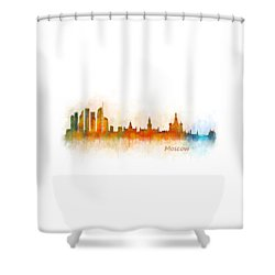Moscow City Skyline Hq V3 Shower Curtain by HQ Photo