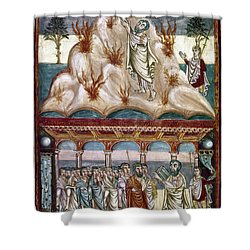 Moses Receiving Laws Shower Curtain by Granger