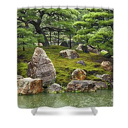 Mossy Japanese Garden Shower Curtain by Carol Groenen