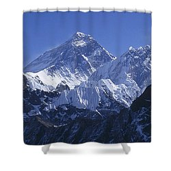 Mount Everest Nepal Shower Curtain by Rudi Prott