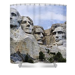 Mount Rushmore National Monument Shower Curtain by Jon Berghoff