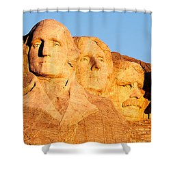 Mount Rushmore Shower Curtain by Todd Klassy