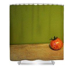 Mr. Stripey Shower Curtain by Michelle Calkins