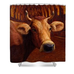 Mrs. O'leary's Cow Shower Curtain by James W Johnson