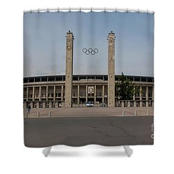 Berlin Olympic Stadium Shower Curtain by Stephen Smith