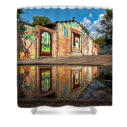 Mural Reflected Shower Curtain by Christopher Holmes