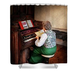 Music - Organist - The Lord Is My Shepherd  Shower Curtain by Mike Savad